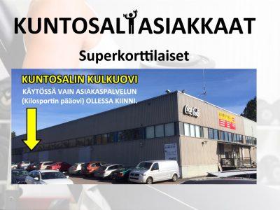 KULUNVALVONTAOVI Kilosport